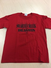 SC Dragons-Distressed Design T-Shirt- Red