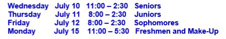 Wolf Days Schedule
