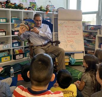 Dr.  Broncato visits 2nd grade