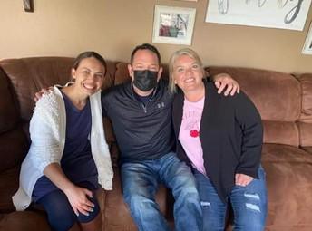 Dave Petcash with teachers Amber Orozco and Meeka Kay