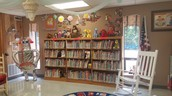 Our lovely library (decorated by Mrs. Blackburn)!