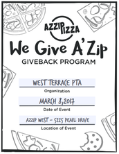 AZZIP PIZZA Gives Back