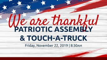 "PTA ""We Are Thankful"" Patriotic Assembly Friday, 11/22"