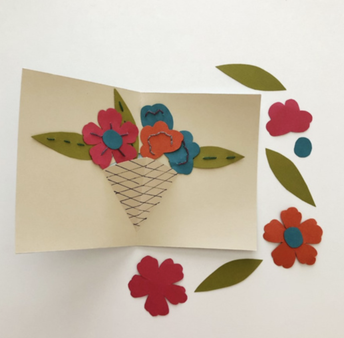 Make a Mothers Day Pop-Up Flower Card (For Ages 8+)