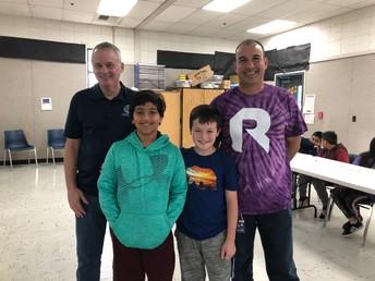 Spelling Bee Winners - Tyson Tidwell (4th) and Rukhmann Hayer (5th)