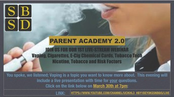 Our next Parent Academy will be ONLINE!