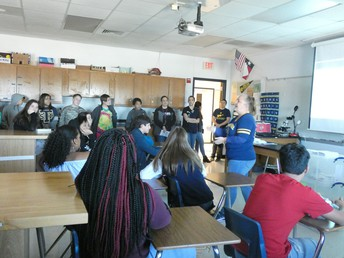 Students visited classrooms and learned about different academies.
