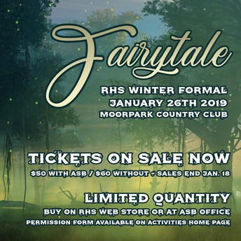 WINTER FORMAL INFORMATION 2019