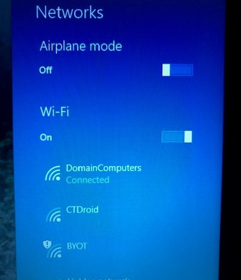 Toggle the Wi-Fi off and back on