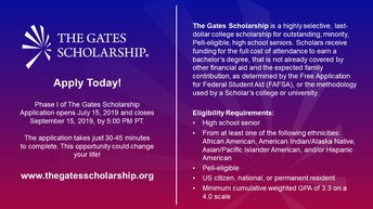 Come learn about this full ride scholarship for seniors