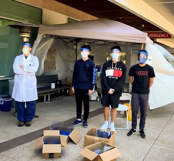 DNHS Students Create, Donate PPE to Hospitals