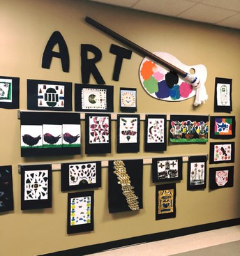 Ms. Vanchiere's Art Wall!