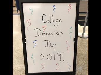 UHS seniors share their new school colors on National College Decision Day!
