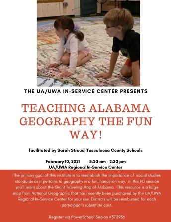 Teaching Alabama Geography the FUN Way!
