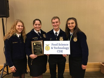 Food Science and Technology Award. Placed second overall. Congratulations!