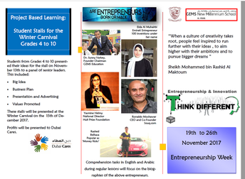 Entrepreneurship Week @ NMS, Nov & Dec 2017