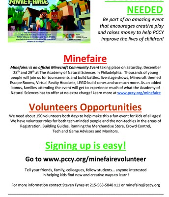 Minefaire | Volunteers Needed