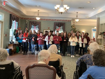 Our honors chorus took their show on the road to bring joy others in our community.