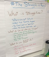 "Loved seeing ""Struggle Time"" anchor chart in Mr. Wilkinson's room!"