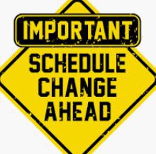 Course Schedule Changes