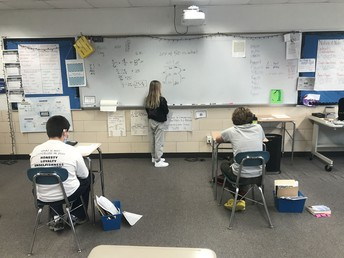 Students teaching each other