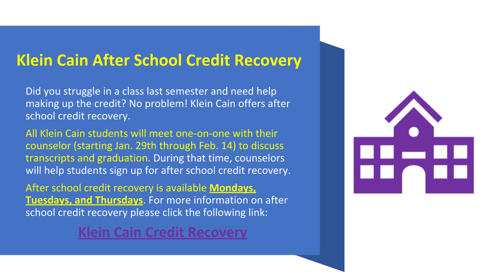 Credit Recovery Info