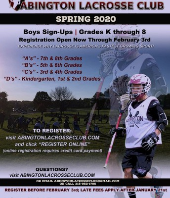 Abington Lacrosse Club Registration