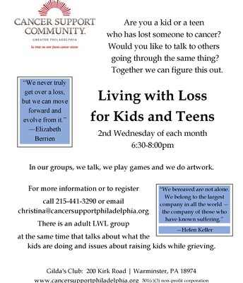 Living with Loss | Cancer Support