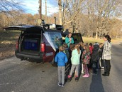 Meteorologist Mark Dixon met with 3rd and 4th graders at Lyman