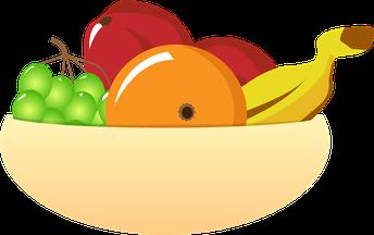 plato con fruta