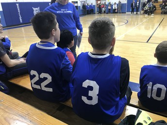 Special Olympics Basketball Team Shines at District Event