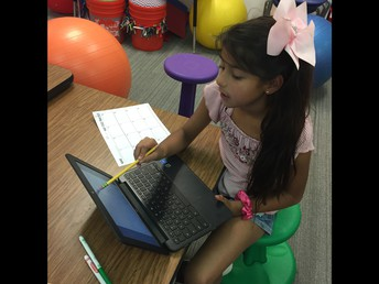 Writing using classroom Chromebooks