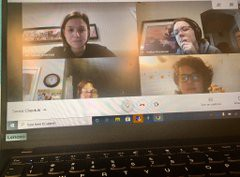 Virtual IB check-in with Seniors