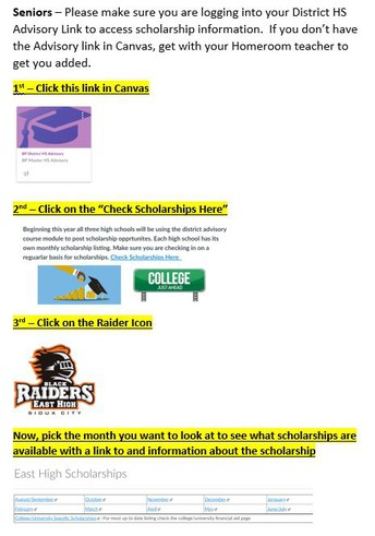 How To Find The Scholarship List In Canvas.