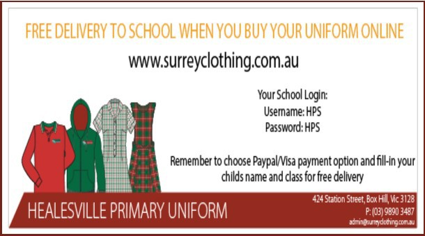 Click here to order your uniforms online