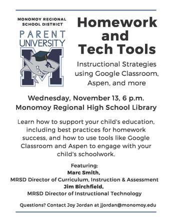 Parent University: Homework and Tech Tools