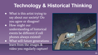 Connect Technology with Historical Thinking