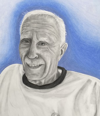 Isabella's pencil drawing of her grandfather