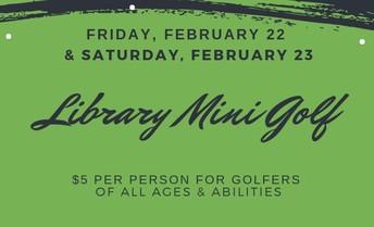 Library Mini Golf!