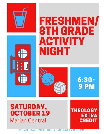 Freshmen/8th Grade Activity Night