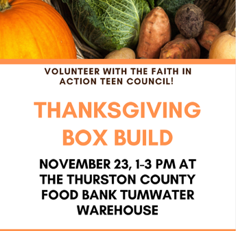 Volunteer Opportunity: Thanksgiving Food Boxes