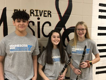 Congratulations to awesome 8th graders Cris Perez, Bella Vasoli and Josey Nygaard!