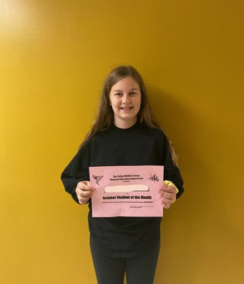PE Student of the Month!