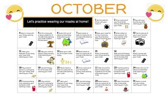 Face mask practice calendar