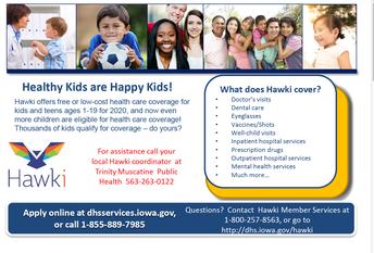 Hawki Health & Dental Information