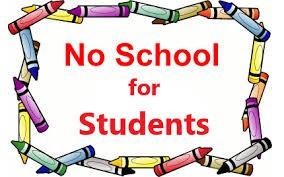 JANUARY - NO SCHOOL DAYS