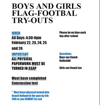 Flag Football Try-outs