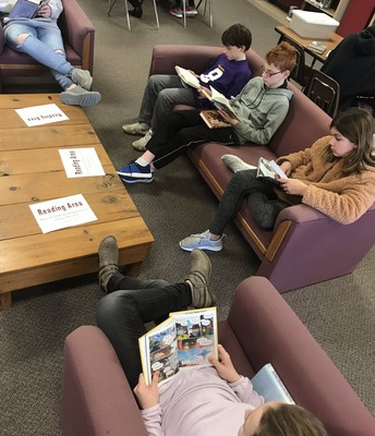 Students Reading in the IMC