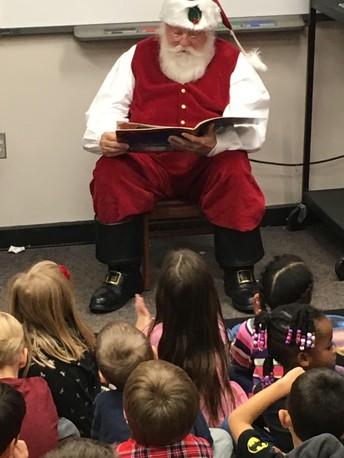 Visit and a Story from Santa