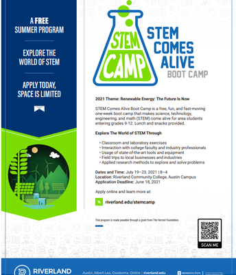 STEM Comes Alive Boot Camp